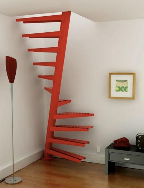 Imagen de la escalera de caracol de eEstair modelo 1m2
